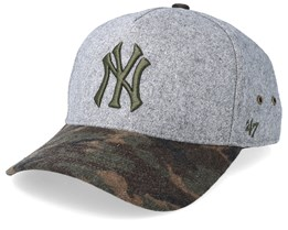 New York Yankees Hitchner Wool 47 Mvp Grey/Camo Adjustable - 47 Brand