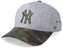 New York Yankees Hitchner Wool 47 Mvp Grey/Camo Adjustable - 47 Brand