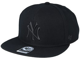 9b7dc2f4 New York Yankees 47 Captain Wool Black/Matte Black Snapback - 47 Brand