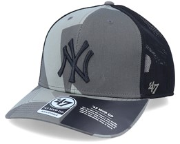 New York Yankees Mvp DP Countershade Sandalwood Camo/Black Trucker - 47 Brand