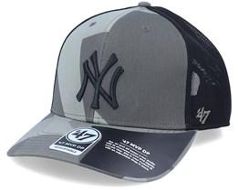 New York Yankees Mvp DP Countershade Sandalwood Camo/Black Trucker - 47 Brand