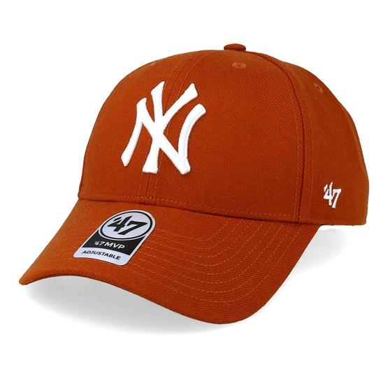 44ae98faa New York Yankees 47 Mvp Wool Burnt Orange/White Adjustable - 47 Brand