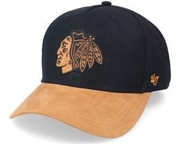 Hatstore Exclusive x Chicago Blackhawks Ultrasuede Visor Black Adjustable - 47 Brand
