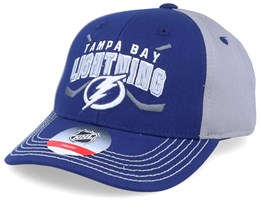 Kids Tampa Bay Lightning Fan Faceoff Blue/Grey Adjustable - Outerstuff