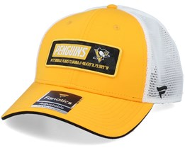 Pittsburgh Penguins Iconic Defender Yellow Gold/White Trucker - Fanatics