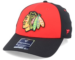 Chicago Blackhawks Iconic Defender Athletic Red/Black Flexfit - Fanatics