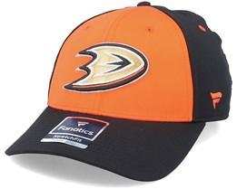 Anaheim Ducks Iconic Defender Dark Orange/Black Flexfit - Fanatics