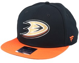 Anaheim Ducks Iconic Defender Black/Dark Orange Snapback - Fanatics