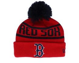 Kids Boston Red Sox Bobble Knit Red/Navy Pom - New Era