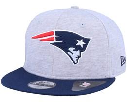 Kids New England Patriots 9Fifty Jersey Essential Heather Grey/Navy Snapback - New Era