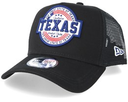 USA Patch Texas Black Trucker - New Era