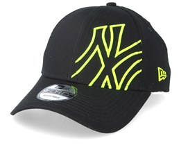 New York Yankees Oversized Basic 9Forty Black/Green Adjustable - New Era