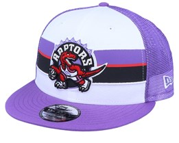 Toronto Raptors Stripe 9Fifty White/Purple Trucker - New Era