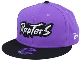 Toronto Raptors Double Hit 9Fifty Purple/Black Snapback - New Era