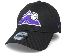 Colorado Rockies Of Clubhouse MLB Black 39Thirty Flexfit  - New Era