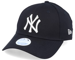 New York Yankees Women Metallic 9Forty Black/Silver Adjustable - New Era