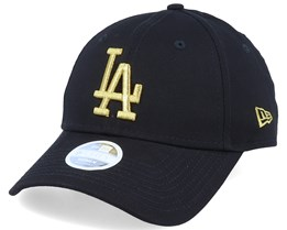 Los Angeles Dodgers Women Metallic 9Forty Black/Gold Adjustable - New Era