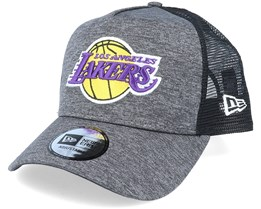 LA Lakers Shadow Tech A-Frame Heather Dark Grey/Black Trucker - New Era