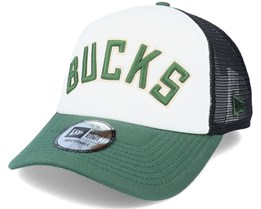 Milwaukee Bucks NBA Colour Block OTC White/Green/Black Trucker - New Era