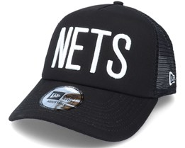 Brooklyn Nets NBA Colour Block OTC Black Trucker - New Era