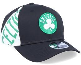 Boston Celtics 9Fifty Stretch Snap Black/White Adjustable - New Era