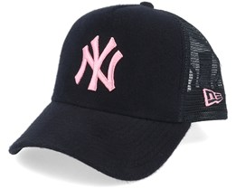 New York Yankees A-Frame Felt Black/Pink Trucker - New Era