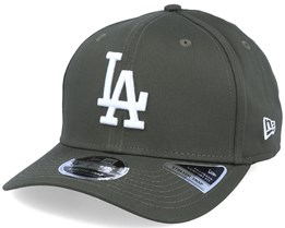 Los Angeles Dodgers League Essential 9Fifty Stretch Snap Olive/White Adjustable - New Era