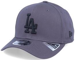 Los Angeles Dodgers League Essential 9Fifty Stretch Snap Dark Grey/Black Adjustable - New Era