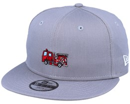 Kids Transport Fire 9Fifty Grey/Red Snapback - New Era