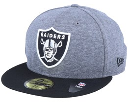 Oakland Raiders Jersey Essential 59Fifty Heather Grey/Black Fitted - New Era