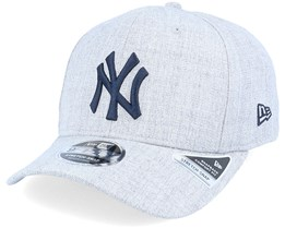 New York Yankees Heather Base 9Fifty Stretch Snap Heather Grey/Navy Adjustable - New Era