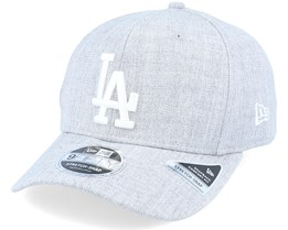Los Angeles Dodgers Heather Base 9Fifty Heather Grey/White Adjustable - New Era