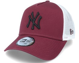 New York Yankees Essential Burgundy/White A-Frame Trucker - New Era