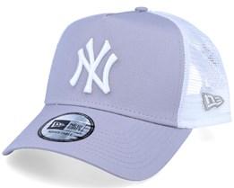 New York Yankees Essential A-Frame Grey/White Trucker - New Era