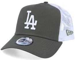 Los Angeles Dodgers Essential A-Frame November Green/White Trucker - New Era