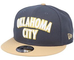Oklahoma City Thunder 9Fifty Dark Grey/Beige Snapback - New Era