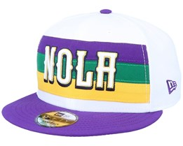New Orleans Pelicans 9Fifty White/Purple Snapback - New Era