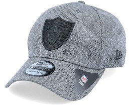 Oakland Raiders Engineered Plus 39Thirty Heather Grey/Black Flexfit - New Era