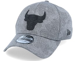 Chicago Bulls Engineered Plus 39Thirty Heather Grey/Black Flexfit - New Era
