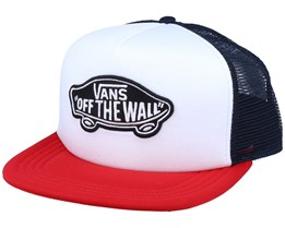 Classic Patch White/Navy/Racing Red Trucker - Vans
