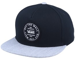 Old Skool Circle Black/Heather Grey Snapback - Vans