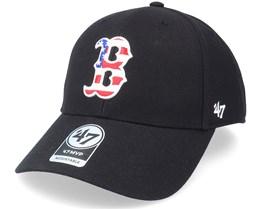 Boston Red Sox Flag Fill Mvp Black Adjustable - 47 Brand