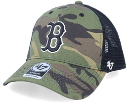 Boston Red Sox Branson Mvp Camo/Black Trucker - 47 Brand