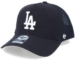 Los Angeles Dodgers Mvp Chain Link Black/White Trucker - 47 Brand