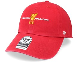 Liverpool Fc Arched Clean Up Red Dad Cap - 47 Brand