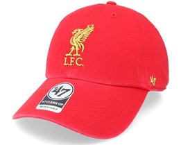 Liverpool FC Metallic Clean Up Red Dad Cap - 47 Brand