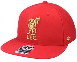 Liverpool Fc Metallic No Shot Captain Red Snapback - 47 Brand