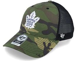 Toronto Maple Leafs Camo Branson Mvp Green Camo/Black Trucker - 47 Brand