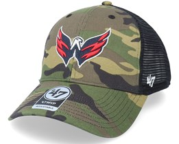 Washington Capitals Camo Branson Mvp Camo/Black Trucker - 47 Brand