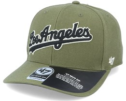 Los Angeles Dodgers Chain Link Script Mvp DP Sandalwood Green/Black Adjustable - 47 Brand